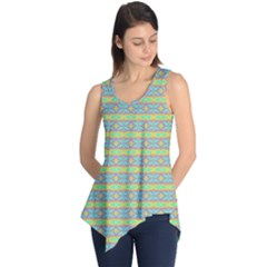 Abstract Rainbow Butterfly Vivid Colorful Cute Sleeveless Tunic