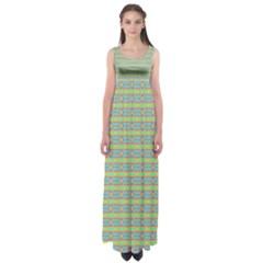 Abstract Rainbow Butterfly Vivid Colorful Cute Empire Waist Maxi Dress
