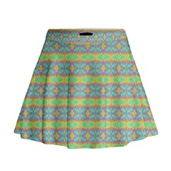Abstract Rainbow Butterfly Vivid Colorful Cute Mini Flare Skirt