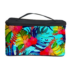Watercolor Tropical Leaves Pattern Cosmetic Storage Cases