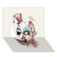 Captain Zombie Heart 3D Greeting Card (7x5)