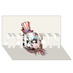 Captain Zombie #1 MOM 3D Greeting Cards (8x4)