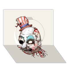 Captain Zombie Circle 3D Greeting Card (7x5)