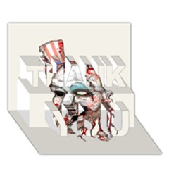 Captain Zombie THANK YOU 3D Greeting Card (7x5)