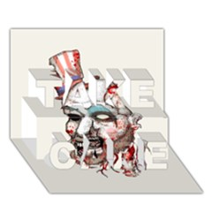 Captain Zombie TAKE CARE 3D Greeting Card (7x5)