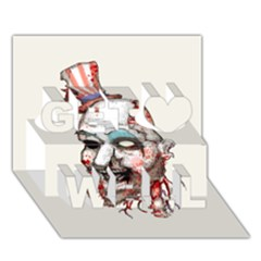Captain Zombie Get Well 3D Greeting Card (7x5)