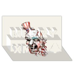 Captain Zombie Merry Xmas 3D Greeting Card (8x4)