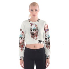 Captain Zombie Women s Cropped Sweatshirt