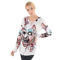 Captain Zombie Women s Tie Up Tee