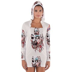 Captain Zombie Women s Long Sleeve Hooded T-shirt