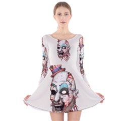 Captain Zombie Long Sleeve Velvet Skater Dress