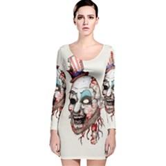 Captain Zombie Long Sleeve Velvet Bodycon Dress