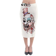 Captain Zombie Midi Pencil Skirt
