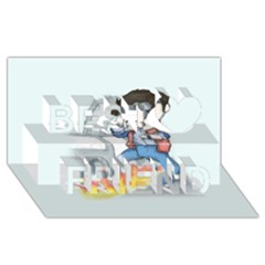 Back To The Plushie Future Best Friends 3D Greeting Card (8x4)