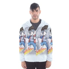 Back To The Plushie Future Hooded Wind Breaker (Men)