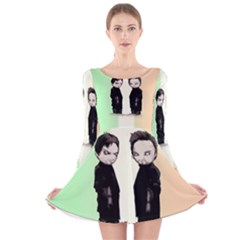 Plushie Saints 2 0 Long Sleeve Velvet Skater Dress