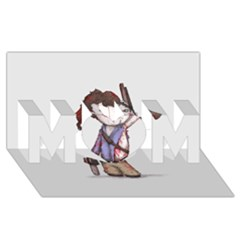Plushie Boomstick MOM 3D Greeting Card (8x4)