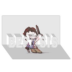 Plushie Boomstick BEST SIS 3D Greeting Card (8x4)