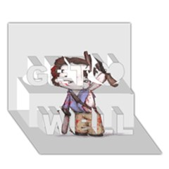 Plushie Boomstick Get Well 3d Greeting Card (7x5)