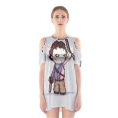 Plushie Boomstick Cutout Shoulder Dress