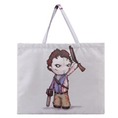 Plushie Boomstick Zipper Large Tote Bag
