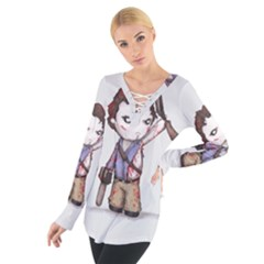 Plushie Boomstick Women s Tie Up Tee