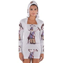 Plushie Boomstick Women s Long Sleeve Hooded T Shirt