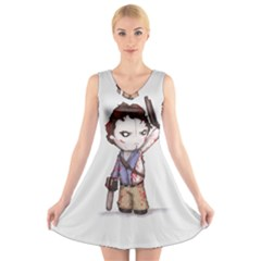 Plushie Boomstick V-Neck Sleeveless Skater Dress