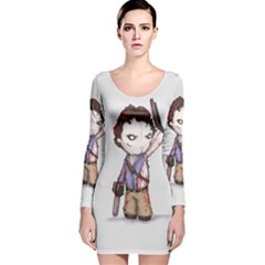 Plushie Boomstick Long Sleeve Velvet Bodycon Dress