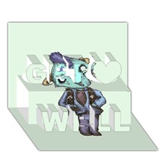 Maurice Get Well 3D Greeting Card (7x5)