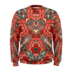 Petals, Pale Rose, Bold Flower Design Men s Sweatshirt