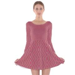 HEAD STRONG Long Sleeve Velvet Skater Dress