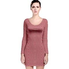 HEAD STRONG Long Sleeve Velvet Bodycon Dress