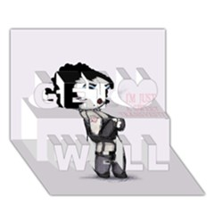 Rocky Horror Plush  Get Well 3D Greeting Card (7x5)