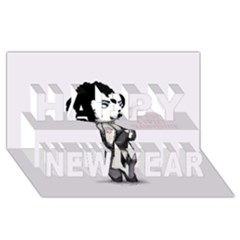 Rocky Horror Plush  Happy New Year 3D Greeting Card (8x4)