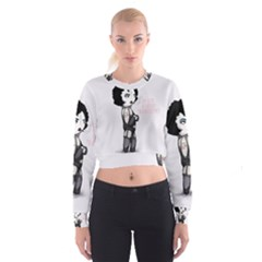 Rocky Horror Plush  Women s Cropped Sweatshirt