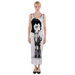 Rocky Horror Plush  Fitted Maxi Dress