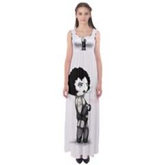 Rocky Horror Plush  Empire Waist Maxi Dress