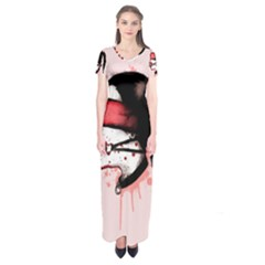 Cardio Masochist  Short Sleeve Maxi Dress