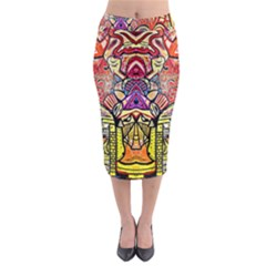 Reflection Midi Pencil Skirt