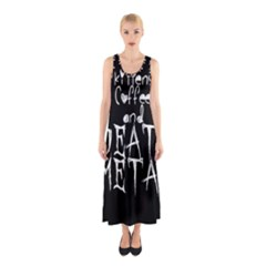 KITTENS COFFEE DEATH METAL Sleeveless Maxi Dress