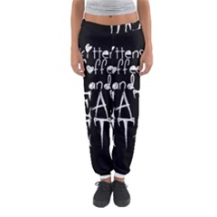 KITTENS COFFEE DEATH METAL Women s Jogger Sweatpants