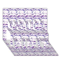 Floral Stripes Pattern You Did It 3D Greeting Card (7x5)
