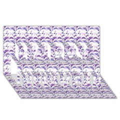 Floral Stripes Pattern Happy New Year 3D Greeting Card (8x4)