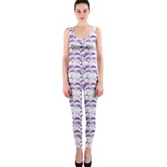 Floral Stripes Pattern OnePiece Catsuit