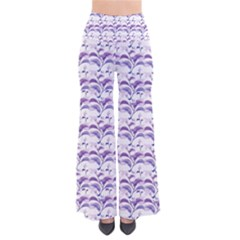 Floral Stripes Pattern Pants