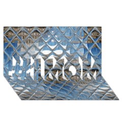Mirrored Glass Tile Urban Industrial #1 MOM 3D Greeting Cards (8x4)