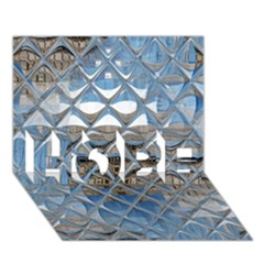 Mirrored Glass Tile Urban Industrial HOPE 3D Greeting Card (7x5)