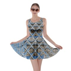 Mirrored Glass Tile Urban Industrial Skater Dress