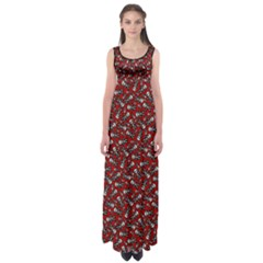 Skeleton Cuties Empire Waist Maxi Dress
